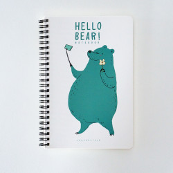 - Hello Bear Defter Yeşil