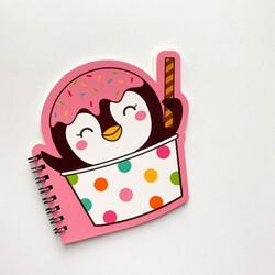 - Penguen dondurma mini defter