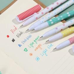 Puantiyeler 6'lı renkli kalem - Thumbnail